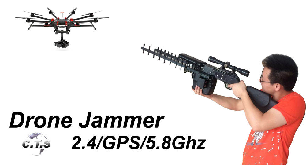 3 in 1 drone jammer gun 2016  2.4G 5.8G and GPS